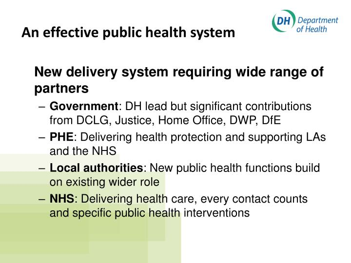 New delivery system requiring wide range of partners