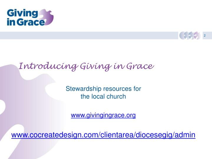 introducing giving in grace n.