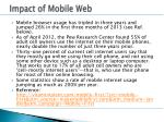 impact of mobile web