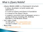 what is jquery mobile