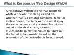 what is responsive web design rwd