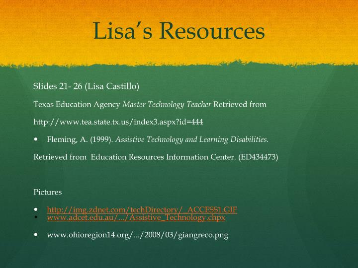 Lisa's Resources