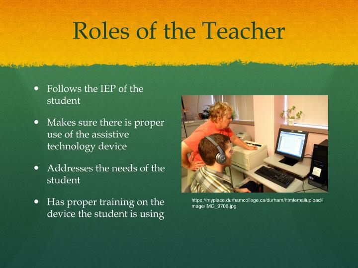Roles of the Teacher