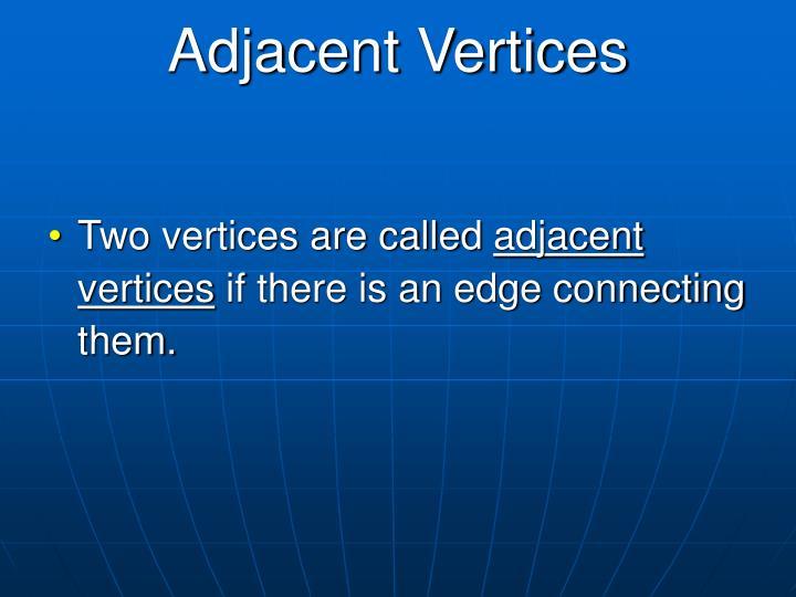 Adjacent Vertices