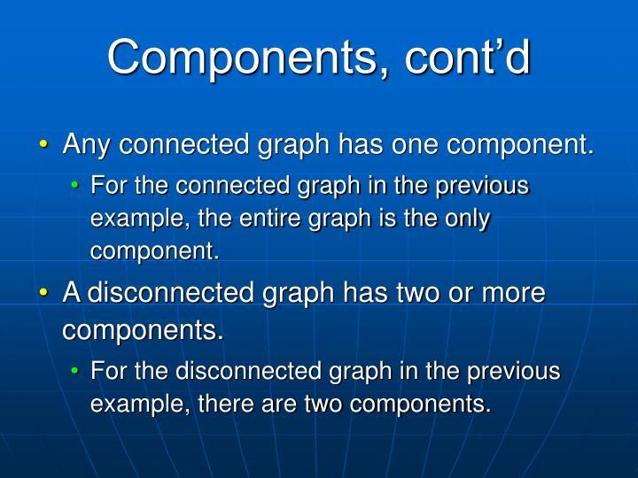 Components, cont'd