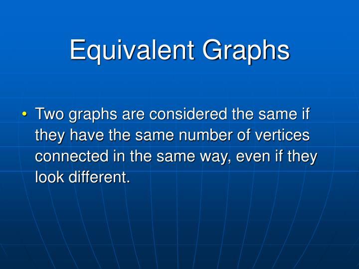 Equivalent Graphs