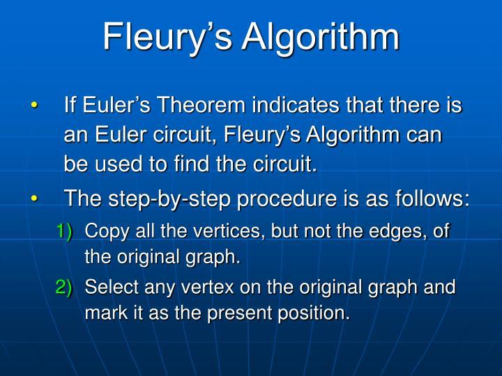 Fleury's Algorithm