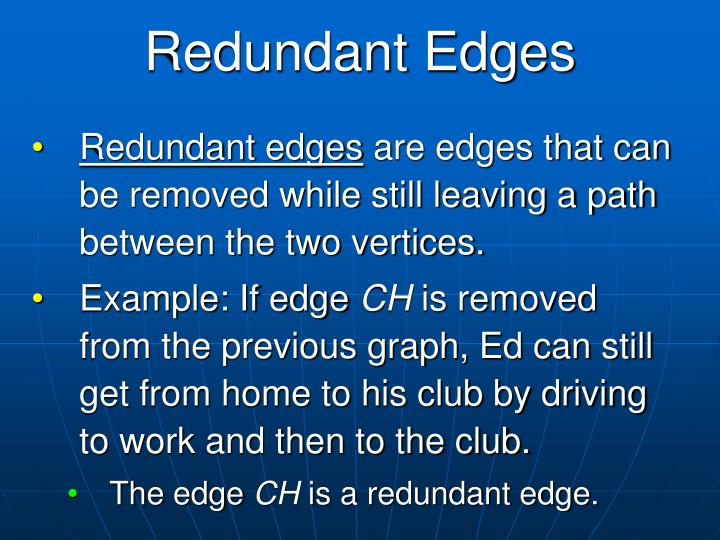 Redundant Edges