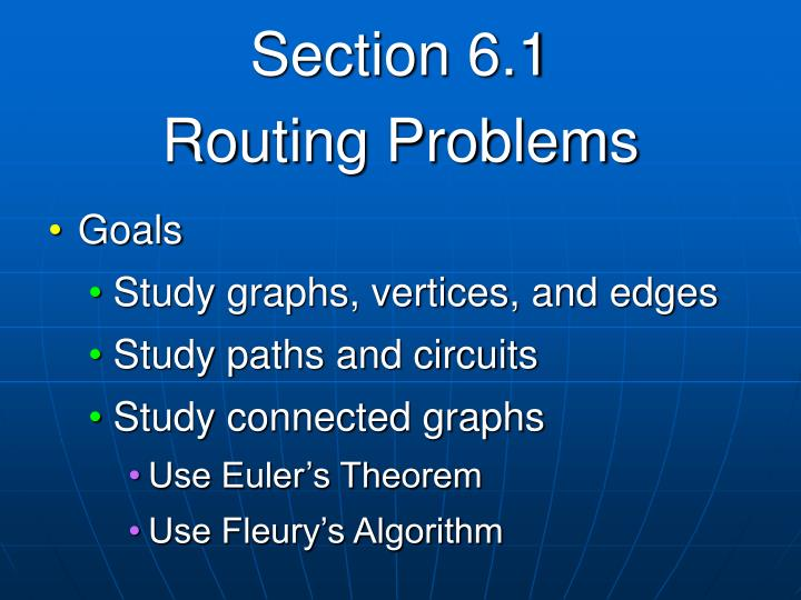 Section 6 1 routing problems