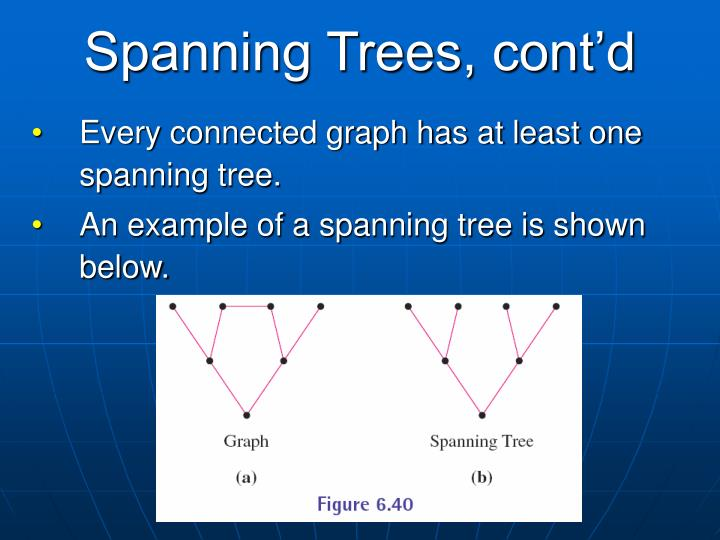 Spanning Trees, cont'd