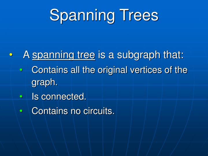Spanning Trees