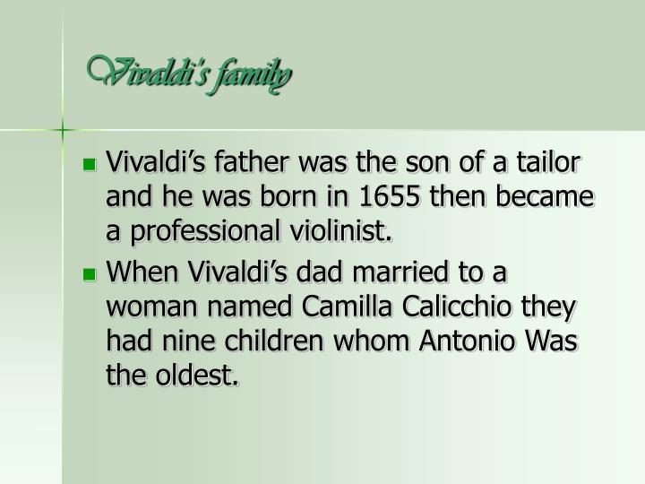 Vivaldi s family