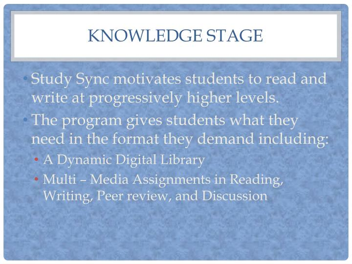 Knowledge stage