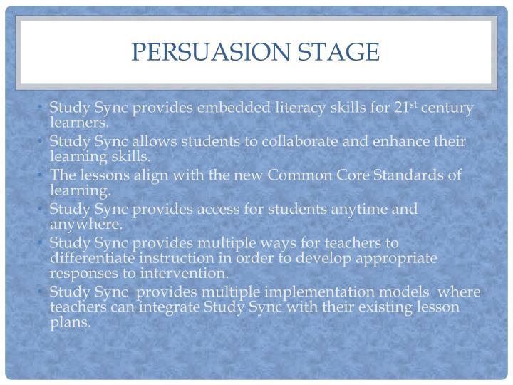 Persuasion stage