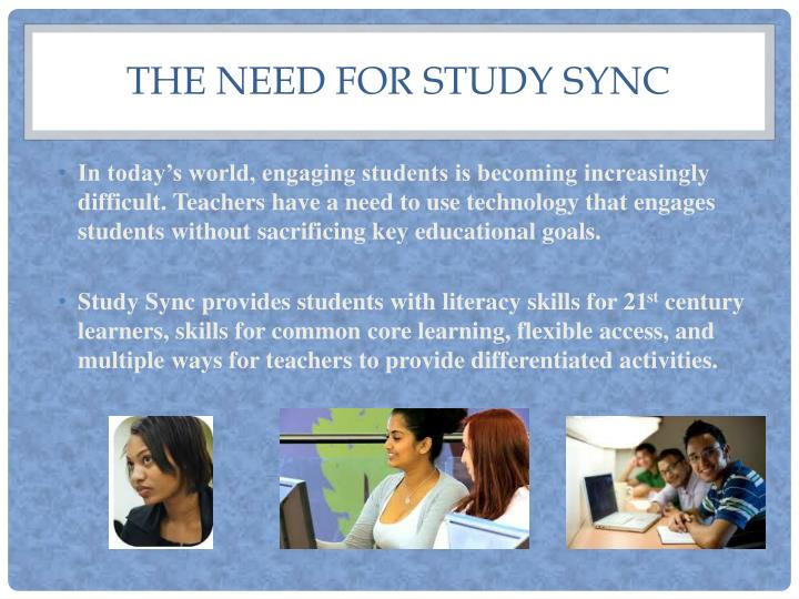 The need for Study Sync