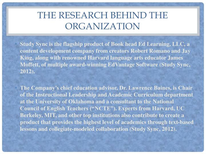 The Research Behind the organization