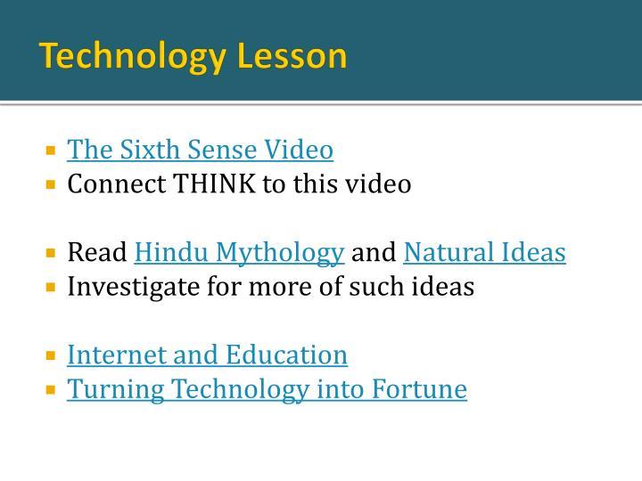 Technology Lesson