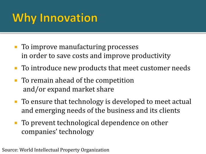 Why innovation