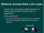 network access data link layer