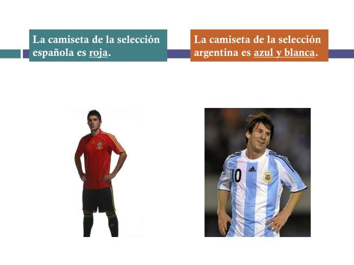 La camiseta de la selección española es