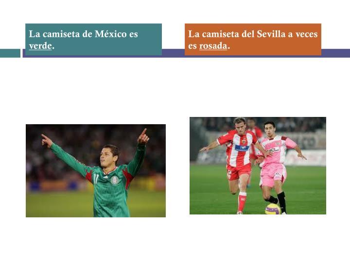 La camiseta de México es