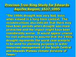 previous tree ring study for edwards aquifer region 1537 1995