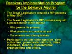 recovery implementation program for the edwards aquifer