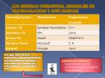 los sistemas operativos lenguajes de programacion y apps nativas