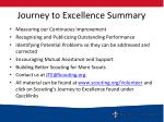 journey to excellence summary