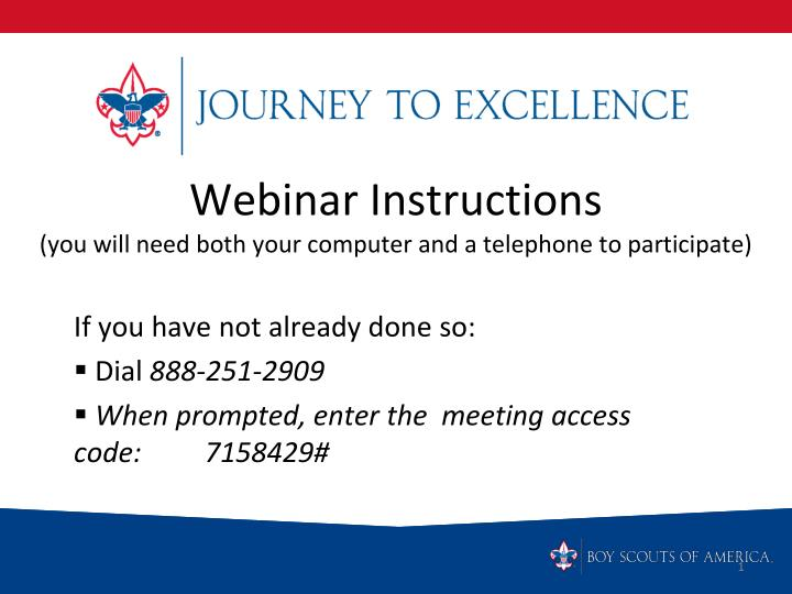 webinar instructions you will need both your computer and a telephone to participate n.