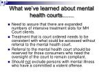 what we ve learned about mental health courts