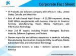 corporate fact sheet