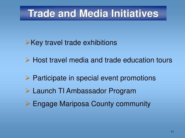 Trade and Media Initiatives