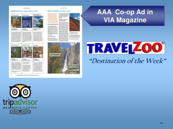 AAA  Co-op Ad in
