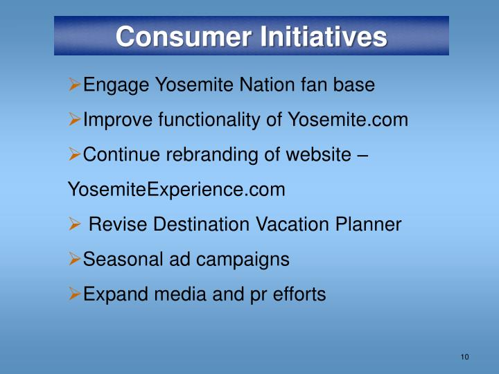 Consumer Initiatives
