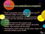 aplikasi yang disediakan live@edu3