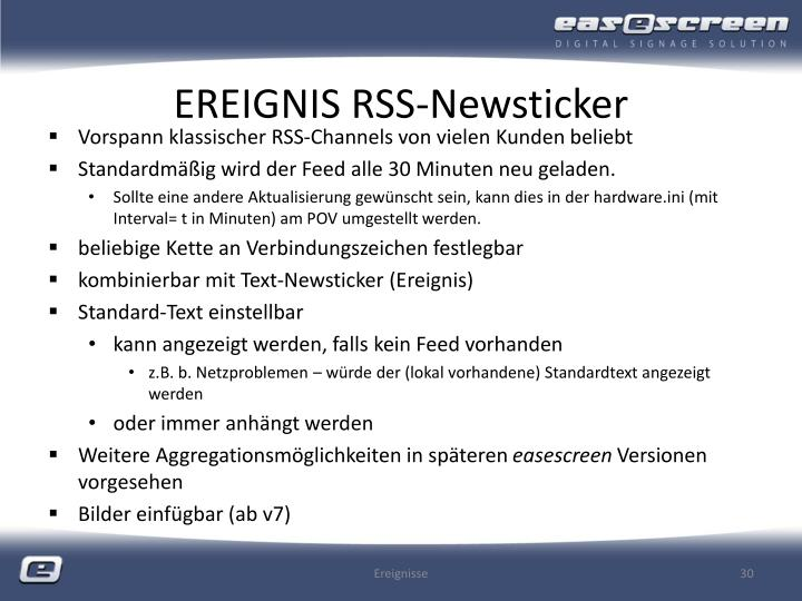 EREIGNIS RSS-Newsticker