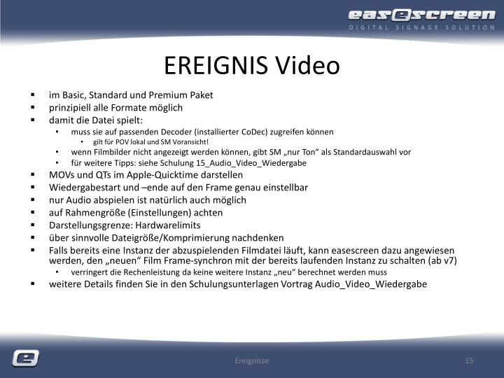 EREIGNIS Video