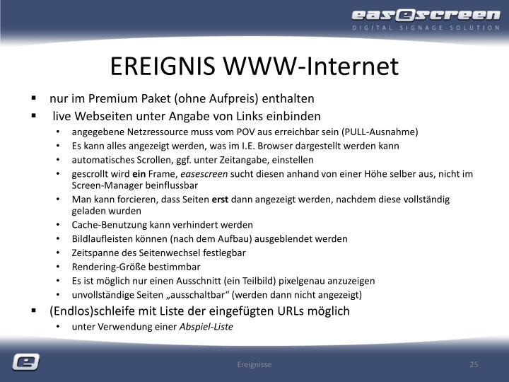 EREIGNIS WWW-Internet