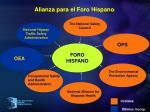 alianza para el foro hispano