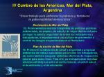 iv cumbre de las americas mar del plata argentina