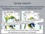 snow extent