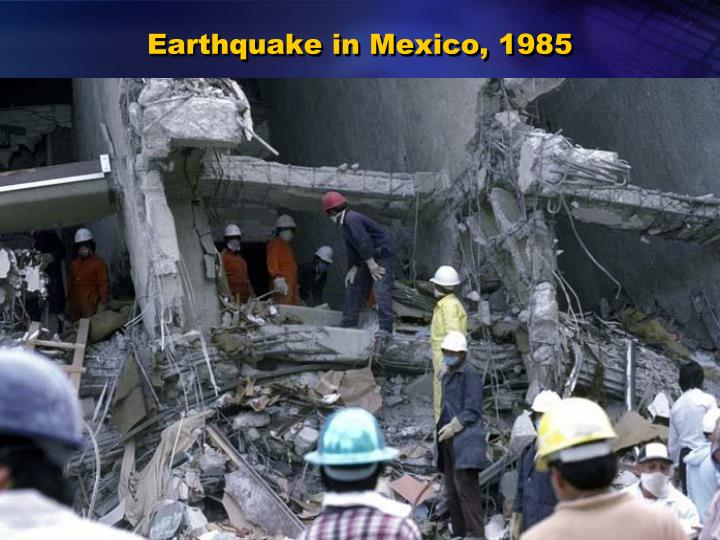 Earthquake in Mexico, 1985