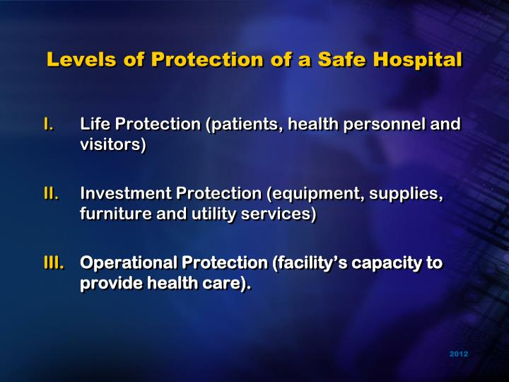 Levels of Protection of a Safe Hospital