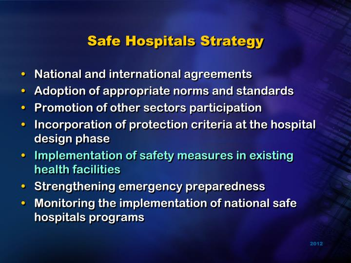 Safe Hospitals Strategy