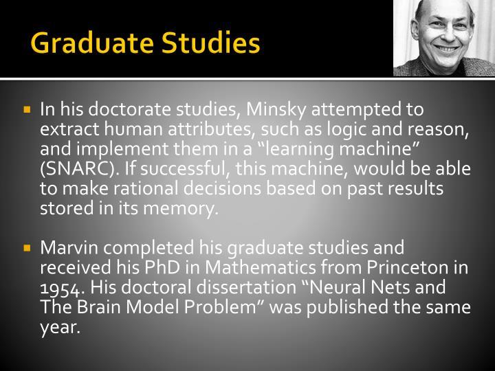 Graduate Studies