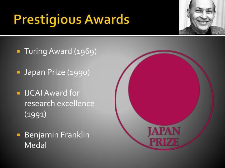 Prestigious Awards