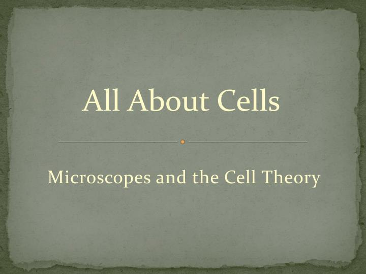 Microscopes and the cell theory
