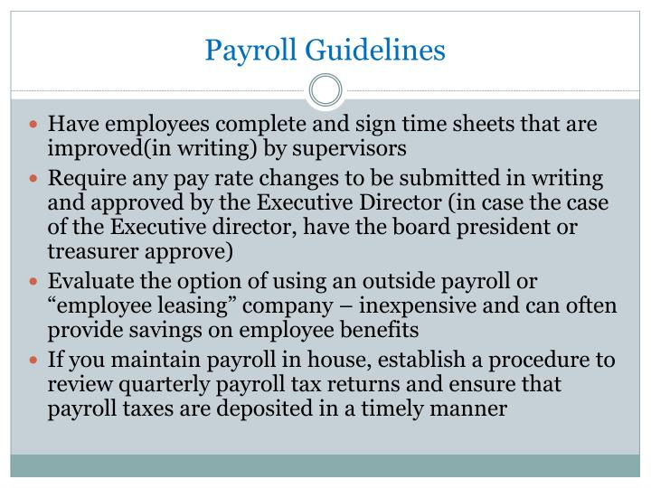 Payroll Guidelines