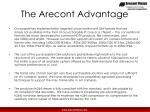 the arecont advantage